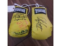 SIGNED GLOVES 100% PROVENANCE OWNED BY LENNY LEE TRAINER R.I.P