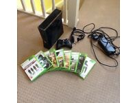 Xbox 360 console and games bundle excel condition