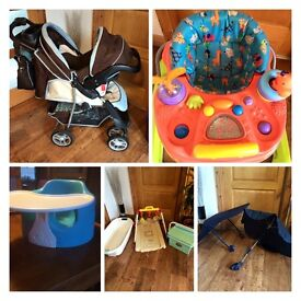 Brillant Baby bundle .. Pram, walker, changing station * perfect starter or grandparents set