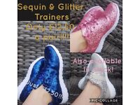For sale sparkly shoes sizes 3-7 4 differef colours