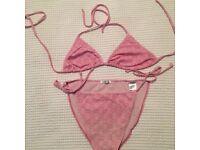 Pale pink Gucci bikini size 12/14