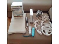 Nintendo Wii Bundle - Console, Games, Accessories, Wii Fit