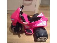 Bike Motorised 3 Wheel Pink Avigo Samurai Girl 6v