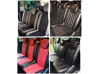LEATHER CAR SEAT COVERS FOR TOYOTA PRIUS FORD GALAXY VOLKSWAGEN SHARAN SHARON TOURAN PASSAT AUDI A4
