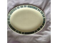 """A W.H. Grindley & Son """"Bute"""" White Large Granite Plate"""