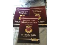 Key stage 3 study guides CGP (8 books)
