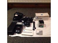 Minolta 9000 Film Camera with Accesories