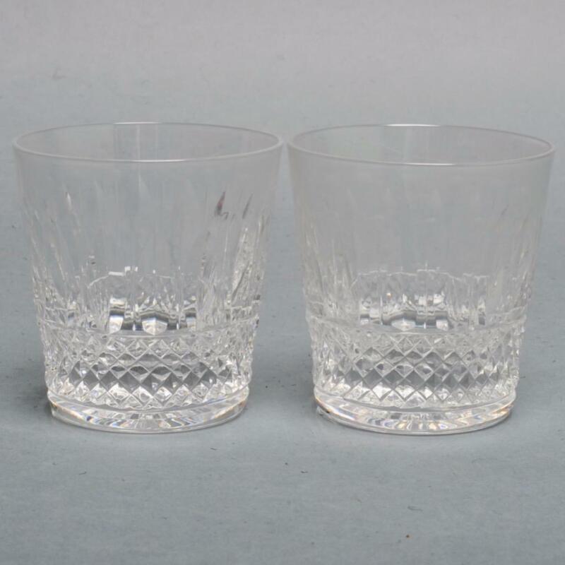 "PAIR (2) SAINT LOUIS CRYSTAL ""TOMMY"" DOUBLE SCOTCH GLASSES, 4"""