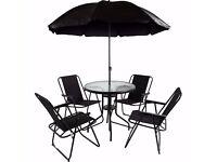 Rimina 4 Seater Garden Patio Set with Parasol