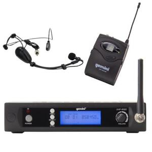 Gemini UHF-6100HL UHF Wireless Microphone System Multiple Channel Headset and Body Pack