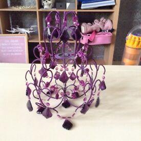 Purple chandelier light shade