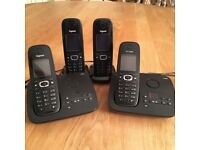 Siemens Gigaset Quad Cordless Phones and Answer Machine