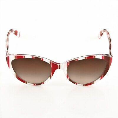 Dolce & Gabbana Sonnenbrille DG4181P 2722/13 Rot, Weiß, Braun gestreift