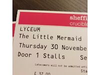 2 x Little Mermaid Ballet Stalls tickets - Sheffield Lyceum