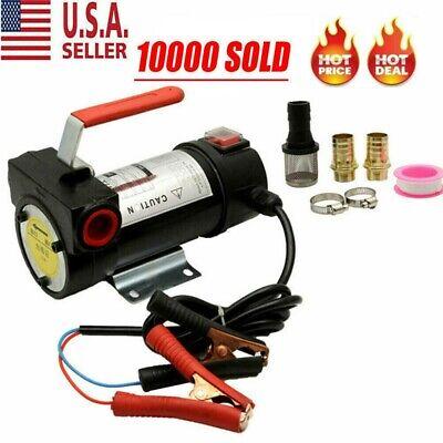 Electric Fuel Transfer Pump Diesel Kerosene Oil Commercial Auto 12v Portable Us