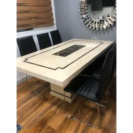 Marble table + six set of chairs