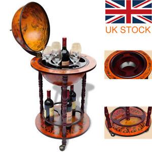 Wood Globe Drink Cabinet Wine Bar Minibar Beverage Stand Bottle Italian 360MM UK