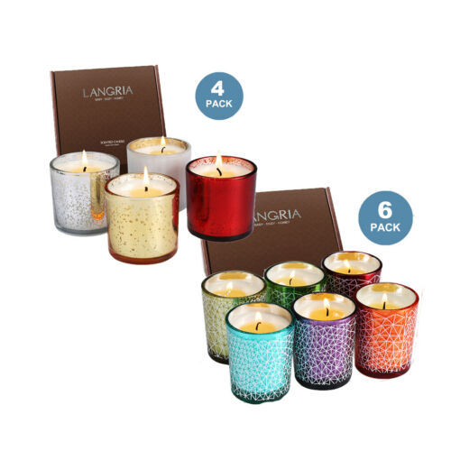 LANGRIA Fragrances Scented Candles Set 4pcs / 6pcs In Glasse