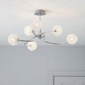 Caelus Chrome Effect 6 Lamp Ceiling Light (used)