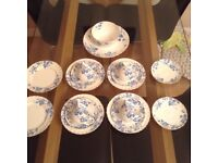 Worcester China Set , Blue and White
