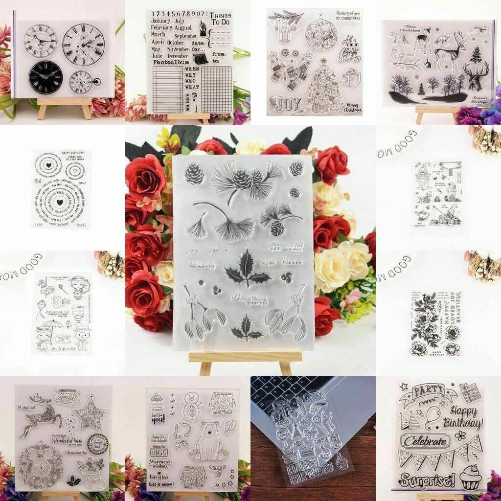 Flower Transparent Silicone Stamp Clear DIY Scrapbooking Craft Stamps Sell