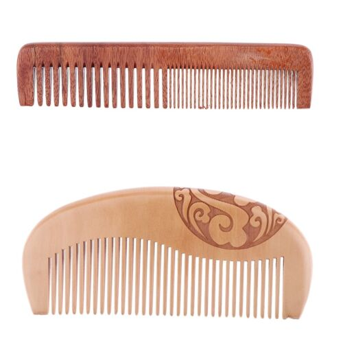 Beard Comb & Hair Comb Kit,Wood Styling Comb for Men Mustach
