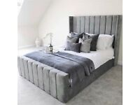 BRAND NEW ROYAL WING BED FRAME IN DOUBLE AND KING SIZE WITH OPTIONAL MATTRESS!!!!!