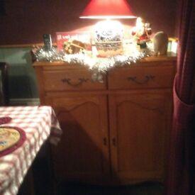 Oak veneer kitchen sideboard from Next in excellent condition.