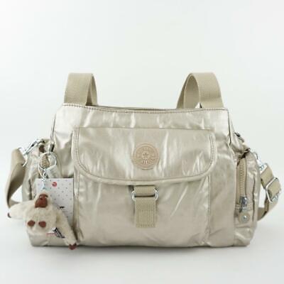 KIPLING FELIX L Handbag Shoulder CrossBody Bag Gleaming Gold Metallic