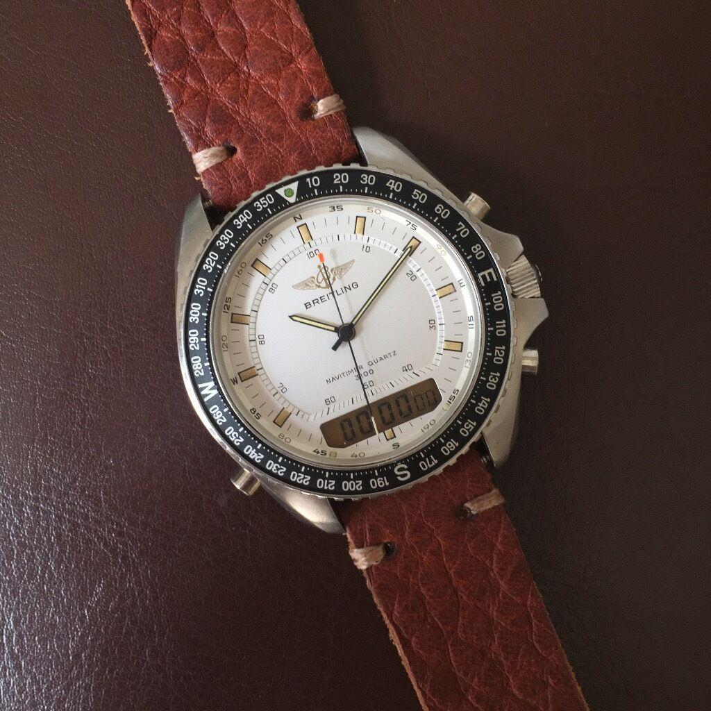 fb76378731c Men breitling navitimer quartz chronograph alarm compass wrist watch JPG  1024x1024 Breitling with compass