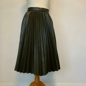 Primark faux leather pleated skirt