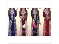 Maxi dress, abaya, kaftan, hijab