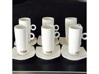 French Espresso Porcelain Tall Cup set of 6