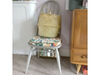 Ercol Quaker chairs two available painted in Annie Sloan French Linen