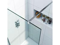 Luxury 8mm wet room/shower glass panel 700mm x 1900mm