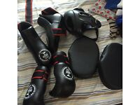 kick boxing set and bag