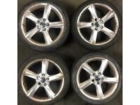 18 inch alloy wheels & tyres vw Golf Caddy van Passat Audi A3 A4 Seat Leon Skoda alloys rims