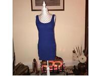 Blue bodycon dress size 8/10