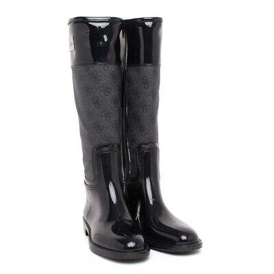 Guess Gummistiefel Stiefel Regenstiefel Schuhe Damen schwarz Neu