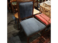 Charming Antique Carved Mahogany Victorian Side/Hall/Bedroom Chair