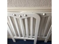 Baby and toddler cot with mattress