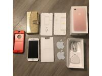 iPhone 7 unlocked rose gold great condition