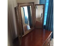 Vintage Dressing Table Folding Mirror - Very old & heavy. Up cycle?