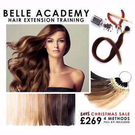 HAIR EXTENSION COURSES. CHRISTMAS SALE NOW ON! ALL INCLUSIVE OF CERTIFICATION AND PROFESSIONAL KIT
