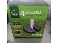 Gazebo weight plates