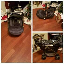 Silver Cross multi way pram with baby carrier