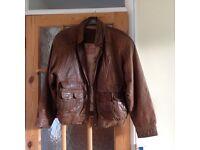 Leather Men's Bomber Jacket
