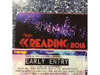 Reading Earlybird Ticket For Sale