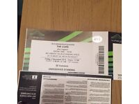 The Cure - STANDING Tickets - Wembley 2nd Dec