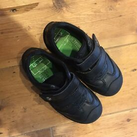 M&S Boys Black School Shoes size 10